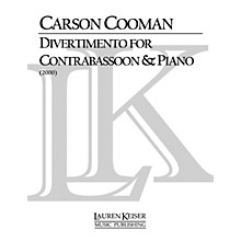 Lauren Keiser Music Publishing Divertimento for Contrabassoon and Piano LKM Music Series