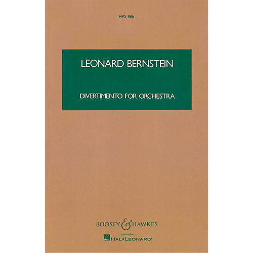 Boosey and Hawkes Divertimento for Orchestra Boosey & Hawkes Scores/Books Series Composed by Leonard Bernstein