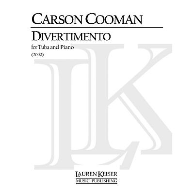 Lauren Keiser Music Publishing Divertimento for Tuba and Piano LKM Music Series Composed by Carson Cooman