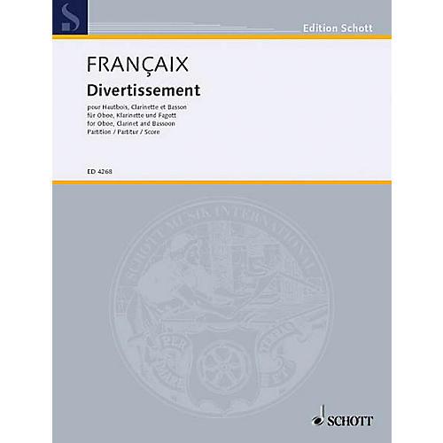 Schott Divertissement (Score) Schott Series by Jean Françaix