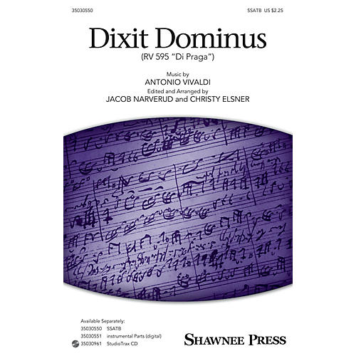 Shawnee Press Dixit Dominus (StudioTrax CD) Studiotrax CD Arranged by Jacob Narverud