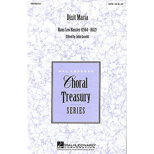 Hal Leonard Dixit Maria SATB a cappella arranged by John Leavitt