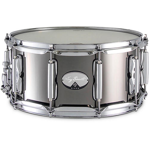 Dixon Dixon Signature Gregg Bissonette Steel Snare Drum 14 x 6.5 in. Black Nickel