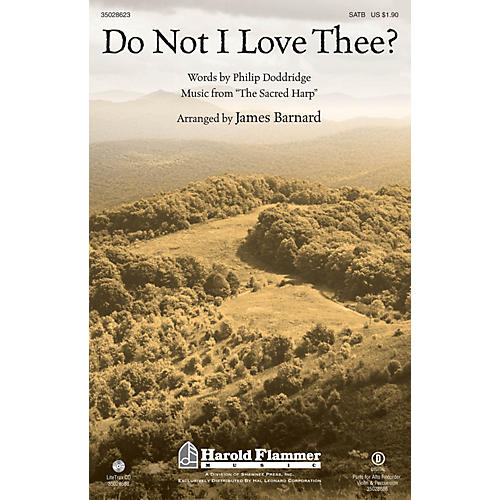 Shawnee Press Do Not I Love Thee? SATB arranged by James Barnard
