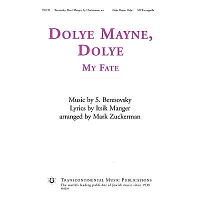 Transcontinental Music Dolye Mayne, Dolye (My Fate) SATB a cappella arranged by Mark Zuckerman