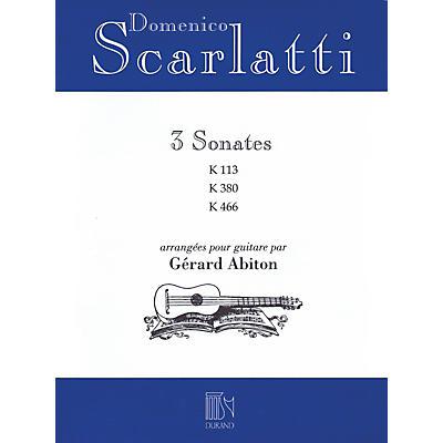 Editions Durand Domenico Scarlatti - Three Sonatas Editions Durand Series Softcover Composed by Domenico Scarlatti