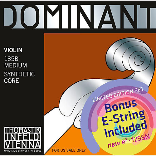 Thomastik Dominant 135B Bonus Set with Free Dominant Tin-Plated E String