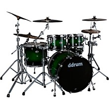 Dominion Birch 5-piece Shell Pack with Ash Veneer Green Burst