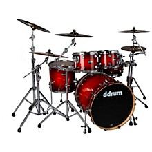 Dominion Birch 5-piece Shell Pack with Ash Veneer Red Burst