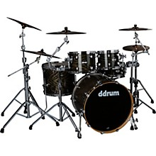 Dominion Birch 5-piece Shell Pack with Ash Veneer Trans Black