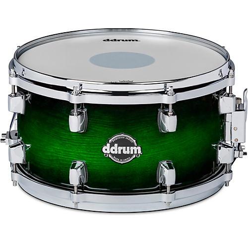 ddrum Dominion Birch Snare Drum with Ash Veneer 13 x 7 in. Green Burst