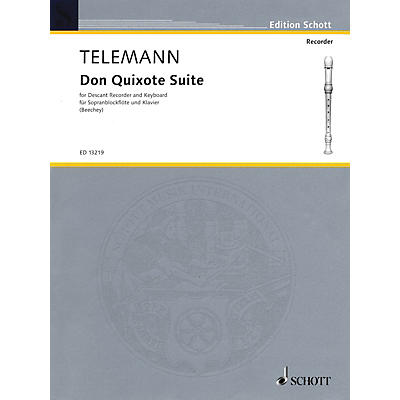Schott Don Quixote Suite (for Descant Recorder and Piano) Woodwind Series Softcover