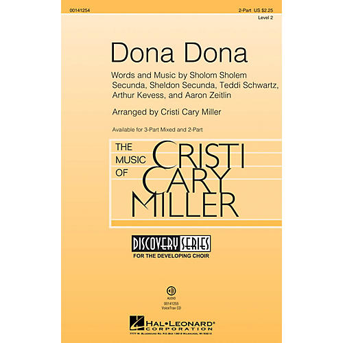 Hal Leonard Dona Dona (Discovery Level 2) 2-Part arranged by Cristi Cary Miller