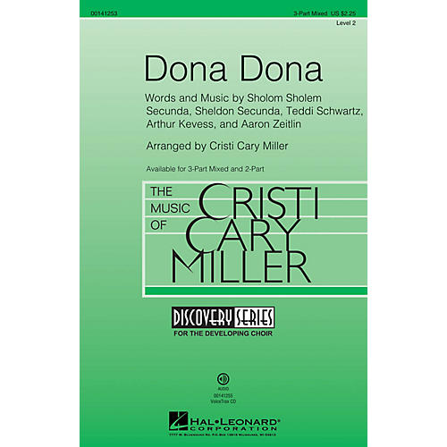 Hal Leonard Dona Dona (Discovery Level 2) 3-Part Mixed arranged by Cristi Cary Miller