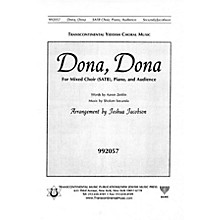 Transcontinental Music Dona Dona SATB arranged by Joshua Jacobson