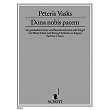 Schott Dona Nobis Pacem (Full Score) Score Composed by Peteris Vasks