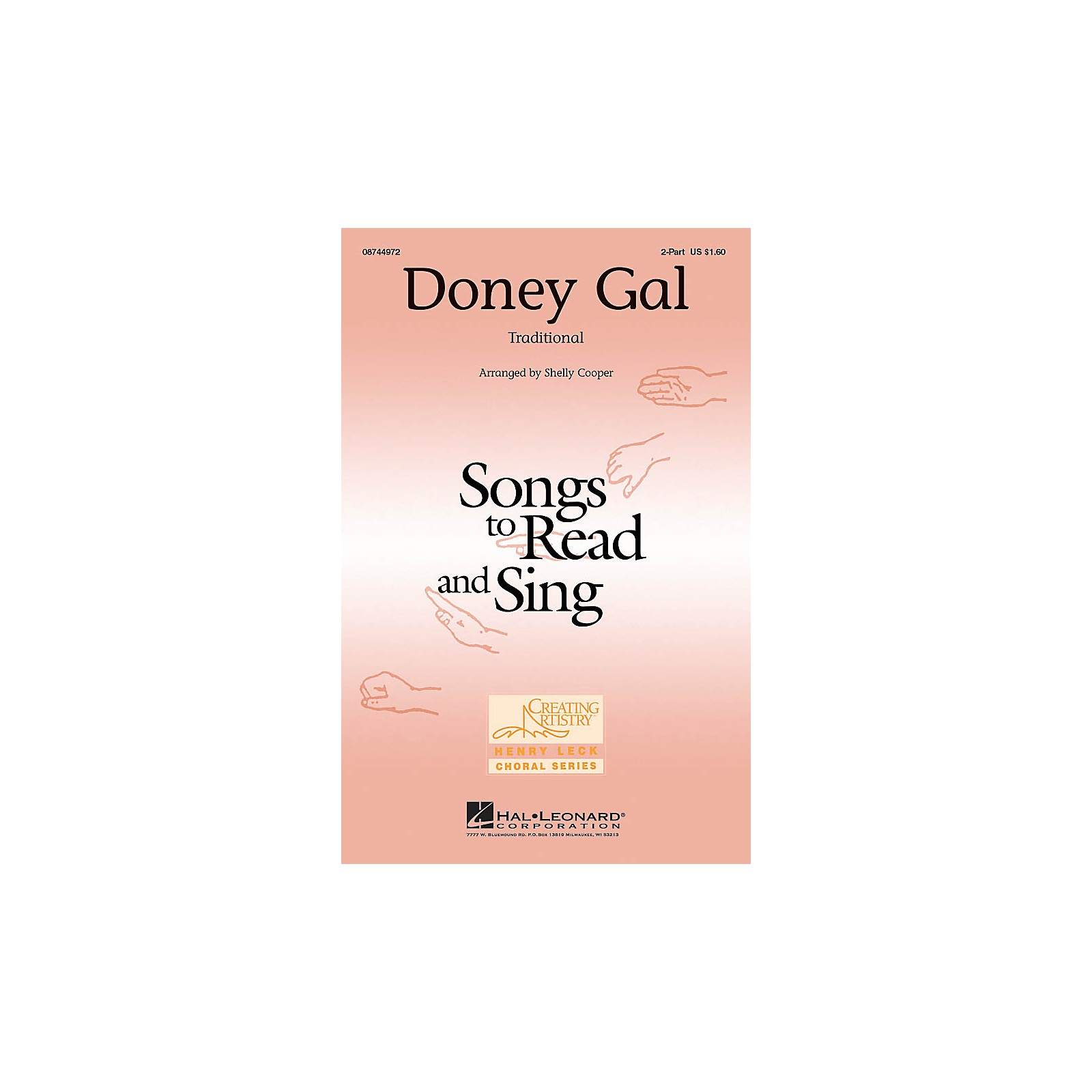Hal Leonard Doney Gal 2-Part arranged by Shelly Cooper