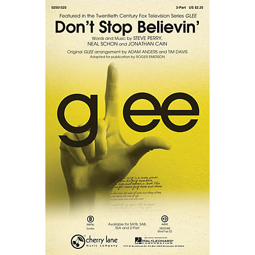 Cherry Lane Don't Stop Believin' (from Glee) 2-Part by Journey arranged by Roger Emerson