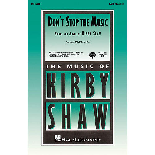 Hal Leonard Don't Stop the Music ShowTrax CD Composed by Kirby Shaw