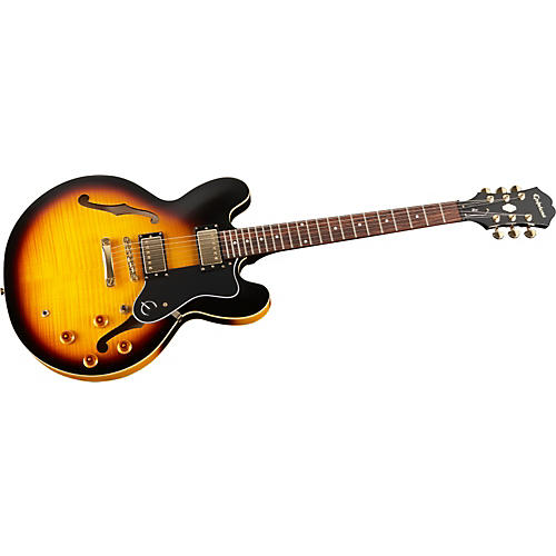 epiphone dot deluxe flametop semi hollowbody electric guitar musician 39 s friend. Black Bedroom Furniture Sets. Home Design Ideas