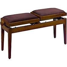 Double Adjustable Piano Bench Walnut Matt