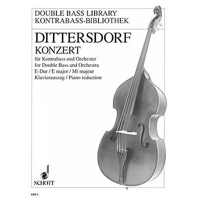 Schott Double Bass Concerto in E Major, Krebs 172 by Karl Ditters von Dittersdorf Arranged Franz Tischer-Zeitz