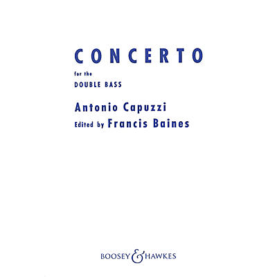 Boosey and Hawkes Double Bass Concerto in F Series Composed by Antonio Capuzzi