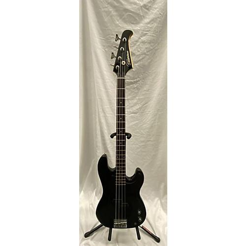 Silvertone Double Cut Electric Bass Guitar Black