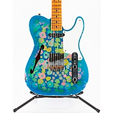 Double Esquire Custom Relic Limited Edition Electric Guitar Aged Blue Flower