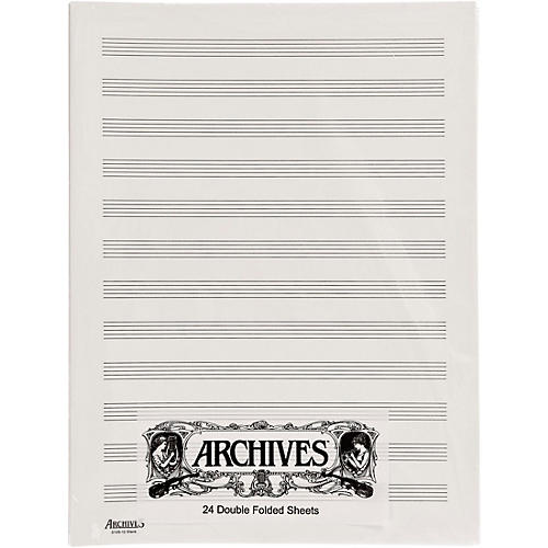 Archives Double Folded Manuscript Paper 12 Stave