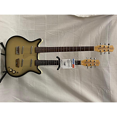 Danelectro Double Neck Baritone Solid Body Electric Guitar