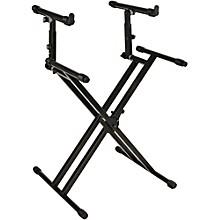 Open BoxQuik-Lok Double-Tier Double-Braced Keyboard Stand