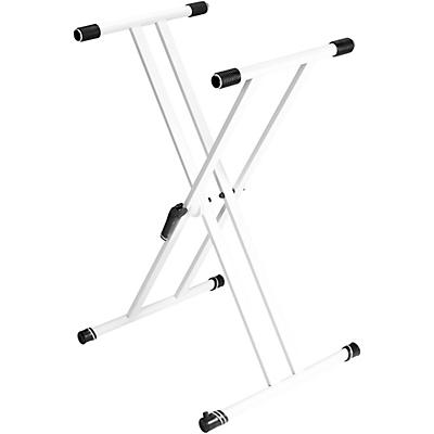 Gravity Stands Double X-Braced Keyboard Stand - White