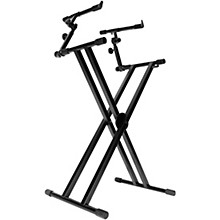 Open BoxOn-Stage Double-X Ergo Lok Keyboard Stand with 2nd Tier