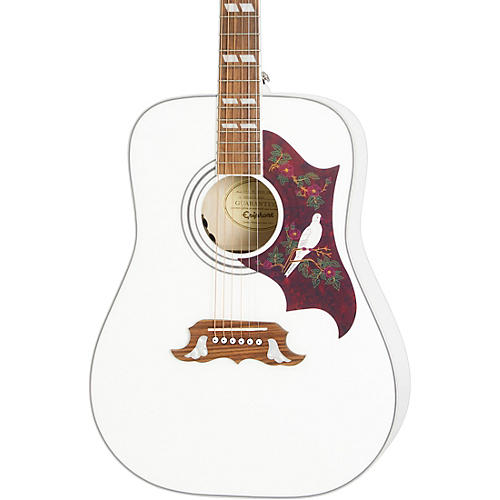 Epiphone Dove Studio Limited-Edition Acoustic-Electric Guitar Alpine White