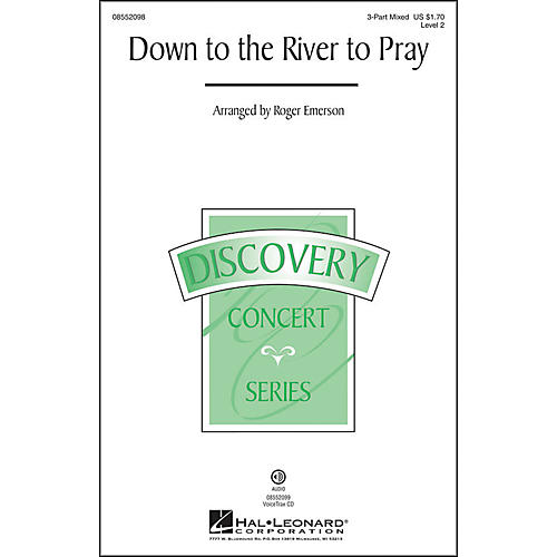 Hal Leonard Down To The River To Pray 3-Part Mixed