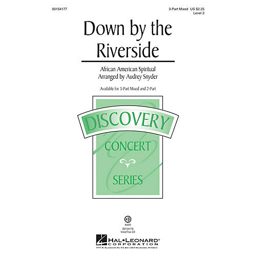 Hal Leonard Down by the Riverside 3-Part Mixed arranged by Audrey Snyder