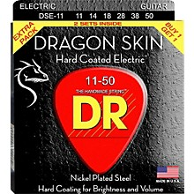 DR Strings Dragon Skin (2 Pack) Hard Coated Electric Guitar Strings (11-50)