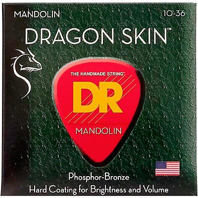 DR Strings Dragon Skin Clear Coated Mandolin Strings (10-14-24-36)
