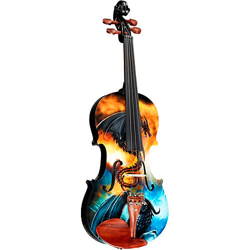 Rozanna's Violins Dragon Spirit Violin Outfit Condition 2 - Blemished 4/4 194744514883