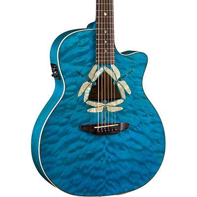 Luna Guitars Dragonfky Quited Maple Acoustic-Electric Guitar