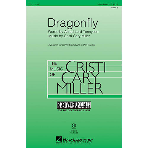 Hal Leonard Dragonfly (Discovery Level 2) 3-Part Mixed composed by Cristi Cary Miller