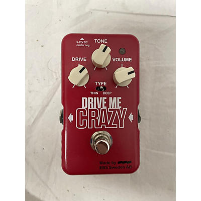 EBS Drive Me Crazy Overdrive Effect Pedal