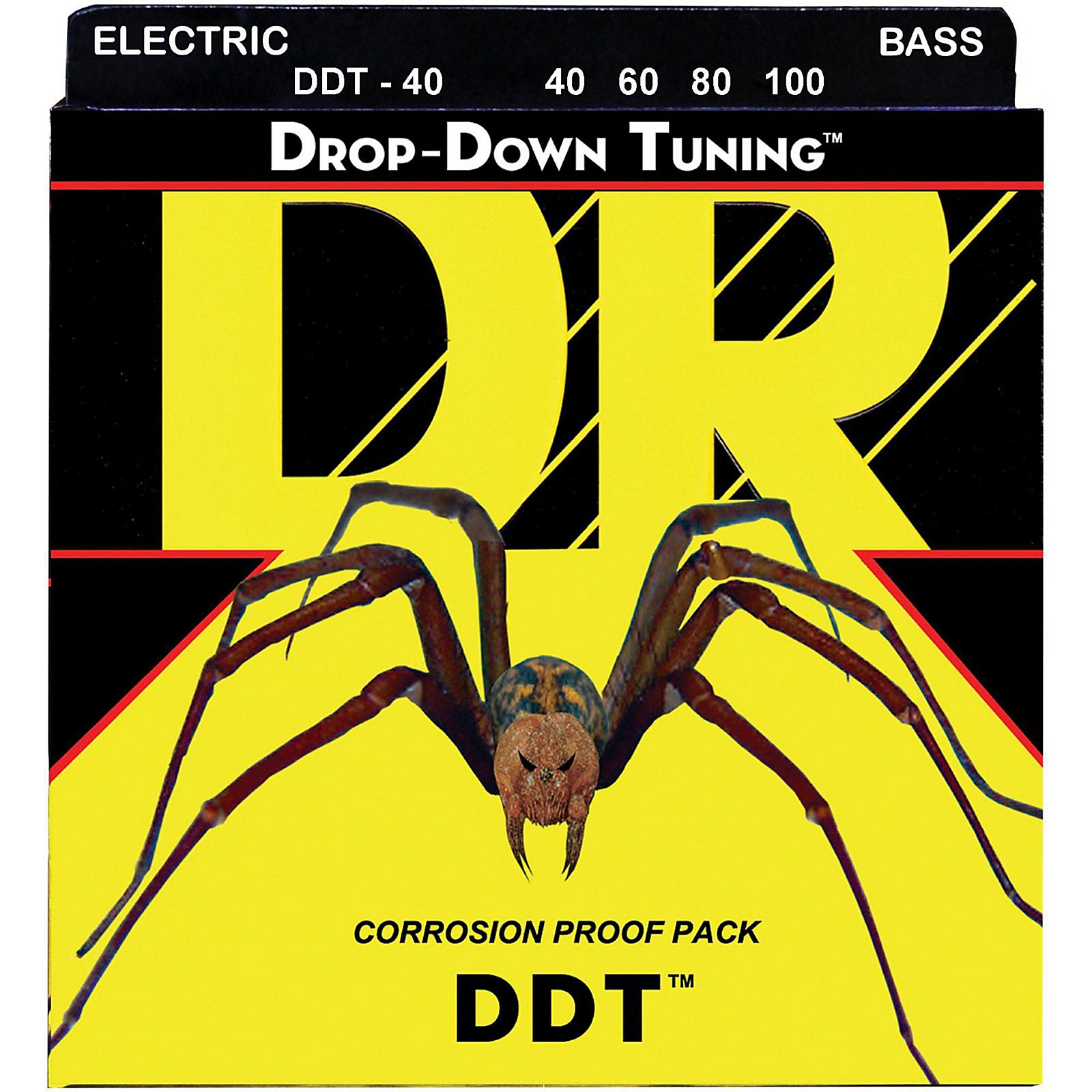 DR Strings Drop Down Tuning Lite 4-String Bass Strings (40-100)