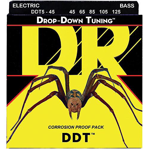 DR Strings Drop Down Tuning Medium 5-String Bass Strings (45-125)
