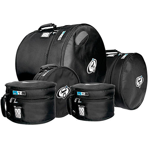 Protection Racket Drum Gig Bag Set 10x8, 12x9, 16x16, 14X6.5, 22x18 in. Black