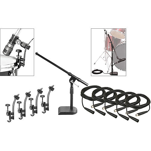 Musician's Gear Drum Microphone Mount Kit with Cables