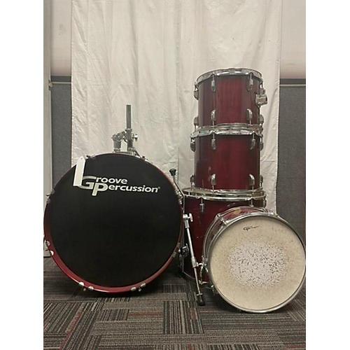 Groove Percussion Drum Set Drum Kit Red Laquer