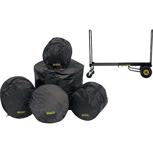 Gear One Drummer Rock n Roller Cart & Beato Bag Set (Fusion)