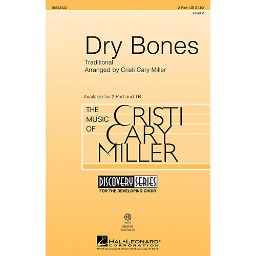 Hal Leonard Dry Bones (Discovery Level 2) 2-Part arranged by Cristi Cary Miller